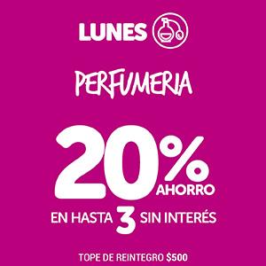 Lunes 20% Perfumería